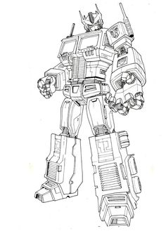 optimus prime animated coloring pages | 196 Best My Childhood | Transformer images in 2019 ...