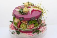 Gateau fleurs, création de l'Atelier des Fleurs d'Auteuil