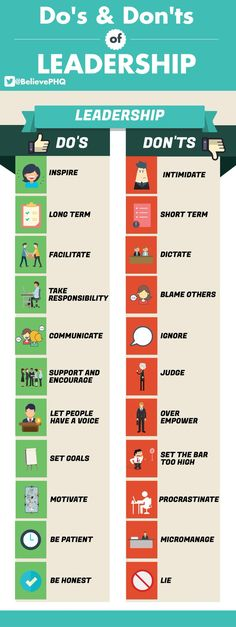 Do's en don'ts voor #leidinggevenden. #hr #leiderschap