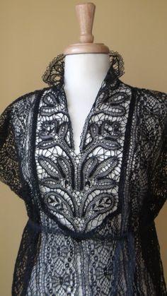 bobbin lace shirt - so beautiful!