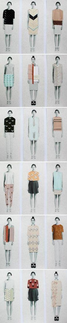 Fashion Portfolio - fashion design illustrations; collection development drawings; textiles for fashion sketchbook // Anna Duthie by Ana Francisco JGq5p