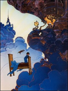 Little Nemo in Slumberland by Moebius Concept art for the 1989 film