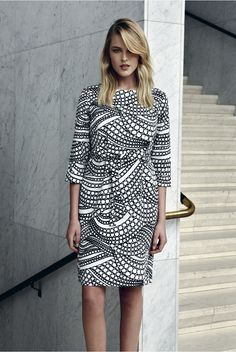 Kuplahdus and Tirsk dresses - Marimekko Fashion - Spring 2015