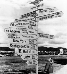 OK, something like this would be fun to put in my yard ;)  Add a sign pointing up to heaven, 'cuz that's the only destination out of all these that I'm likely to travel to.