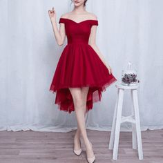 Cute high low tulle short prom dress,homecoming dress