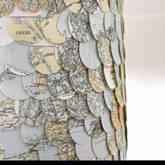 Vintage map lampshade.