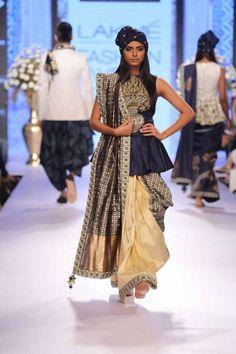 peplum saree blouse - Google Search