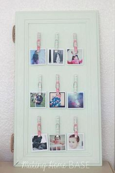 Instagram Photo Display from a Cabinet Door | Making Home Base