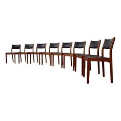 Mid-Century Modern Danish Teak Chairs - Set of 8 - $1,895 Est. Retail - $1,795 on Chairish.com #midcenturymodern