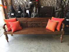 Teak bench seat / Daybed