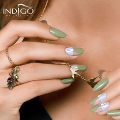 Khaki nails are best green nails! Autumn Inspiration, Nails Inspiration, Indigo Nails, Fall Nail Art, Hot Nails, Green Nails, Green Colors, Manicure, Earrings