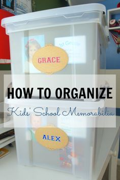 How to Organize Kid's Papers and Memorabilia...part of the I Heart Planners Paper Clutter Challenge | www.iheartplanners.com