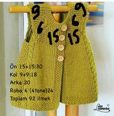 Diy Crafts - new-season-spring-bebe-vest Knitting For Kids, Baby Knitting Patterns, Baby Patterns, Hand Knitting, Knitting Ideas, Knitted Baby Cardigan, Baby Pullover, Quick Knits, Vest Pattern