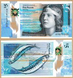 Royal Bank of Scotland - £ 5-polímero-UNCIRCULATED-emitido 27 de octubre de 2016 * qwc * Nuevo