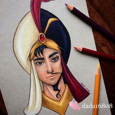 Dada is a talented artist who loves drawing with color pencils and is a huge Disney fan. So it's no wonder that a lot of her artwork features the most lovable Disney characters who you can see in the whole new light. Disney Sketches, Disney Drawings, Cartoon Drawings, Drawing Disney, Disney Fan Art, Disney Love, Heros Disney, Disney Villains, Disney Characters