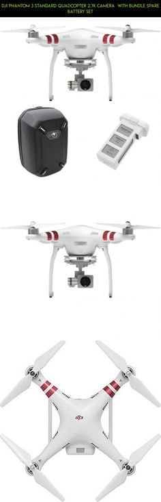 DJI Phantom 3 Standard Quadcopter 2.7k Camera with Bundle Spare Battery Set #gadgets #drone #kit #dji #bundle #camera #tech #shopping #fpv #racing #3 #technology #standard #phantom #products #parts #plans