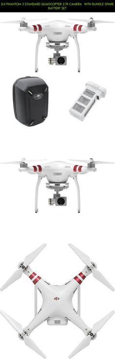 DJI Phantom 3 Standard Quadcopter 2.7k Camera  with Bundle Spare Battery Set #gadgets #drone #kit #dji #bundle #camera #tech #shopping #fpv #racing #3 #technology #standard #phantom #products #parts #plans