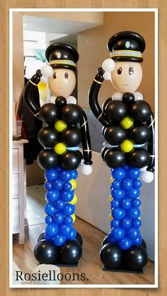 Balloon Tower, Balloon Columns, Balloon Arch, Birthday Balloons, Birthday Party Themes, Astronaut Party, Police Party, Balloon Company, Christmas Balloons