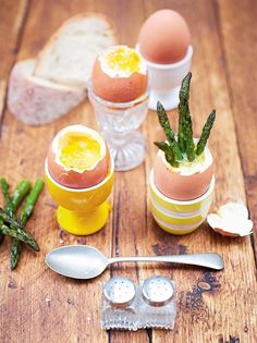 """Kerryann's dippy eggs & asparagus soldiers """"This is delicious, easy to make and really fun to eat – kids love it! """""""