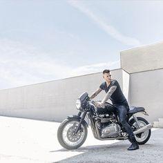 Our designer @shanevitalyforan shot by the insanely talented @mattbarnesphoto! #vitaly #fashion #motorbikes