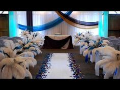 Blue And White Wedding Decor Perfect For A Winter Wonderland