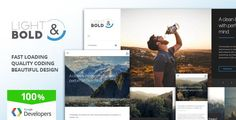 Light & Bold - Speed-Focused WordPress Theme by TTFB Description Light & Bold¡¯s main purpose is PERFORMANCE: We provide you with the fastest loading website out there. And we must a