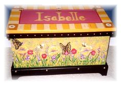 Nothing is cuter than taking an old trunk and personalize it for that special one in your family