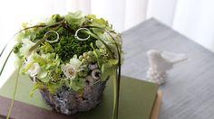 リングピロー 苔 ナチュラル ギフト・結婚祝・結婚式に - プリザーブドフラワー・ウェディング小物の通販 glycineグリシーヌ
