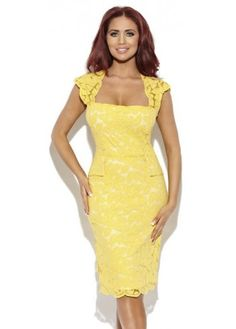 Amy Child's Yellow Lace perfect for summer wedding christening or a day at the races ...