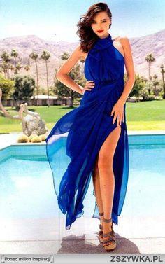 MIRANDA KERR w pięknej suknie maxi
