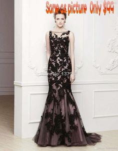 2014 zuhair murad Black   Sexy Mermaid Tank Top Appliques      Mother of the Bride Dresses