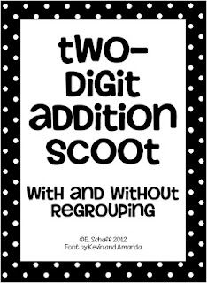 two digit addition scoot with and without regrouping