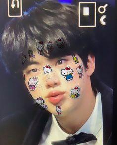 jikooktv on twitter uploaded by ˅ɞ♡⃛ʚ˅ on We Heart It Seokjin, Hoseok, Jimin, Bts Jin, Kpop, Hello Kitty, Jin Icons, Cybergoth, Worldwide Handsome