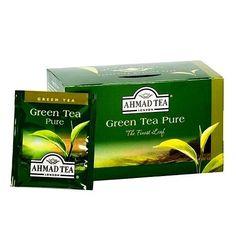 Ahmad Green Tea Pure, 6 box of 20 ct Tea Bags, NEW for sale online Ahmad Tea, Pure Green Tea, London, Pure Products, Beverages, Boxes, Food, Crates, Essen