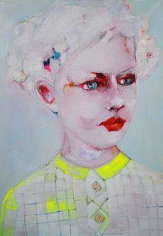 "Saatchi Online Artist: Patricia Derks; Oil 2013 Painting ""Little one"""