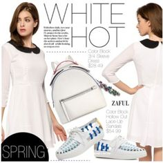White Hot Spring Look