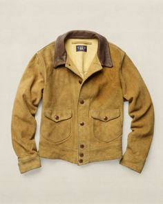 Skinner Oiled-Suede Jacket - RRL Lightweight & Quilted  - RalphLauren.com