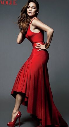 love the red dress and red shoes =)