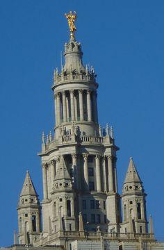 View of Manhattan Municipal Building from Brooklyn Bridge