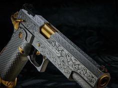 #BlackandGold Infinity Firearms Pistol