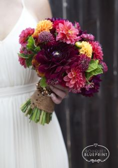 DIY fall wedding bouquet via ST Bouquet Blueprint
