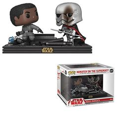 Buy Star Wars The Last Jedi Finn & Captain Phasma Funko Pop! Movie Moment from Pop In A Box UK, the home of Funko Pop Vinyl subscriptions and more. Star Wars Meme, Star Wars Facts, Star Wars Quotes, Pop Vinyl Figures, Star Wars History, Otaku, Cuadros Star Wars, Funko Pop Star Wars, Star Wars Wallpaper