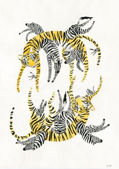 Stripes & Stripes by Josephine Kyhn, via Behance