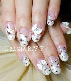 Japanese nails Wedding Style