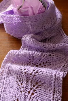 Lavender Feather Scarf: free pattern- Beautiful! (would take me 100 years to make with my carpal tunnel, but too pretty not to save!)