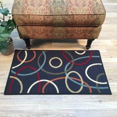 Anti-Bacterial Rubber Back DOORMAT Non-Skid/Slip Rug 18 x31  & Rubber-Cal