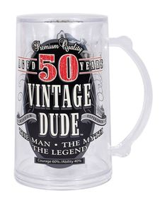 Vintage Dude 50 Tankard, perfect for a 50th birthday party brew.