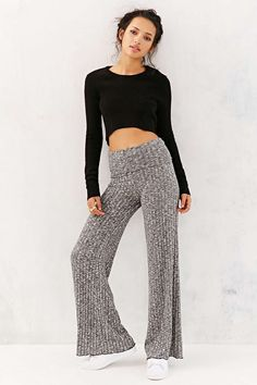 Out From Under Rib Wide-Leg Pant - Urban Outfitters