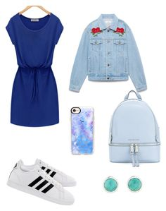 """""""blue fashion"""" by helene003 ❤ liked on Polyvore featuring adidas, MICHAEL Michael Kors, Casetify and followme"""