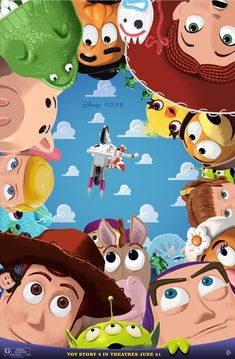 Pixar Disney and Pixar released three amazing posters yesterday created especially for Toy Story 4 by some very talented artists. Disney Pixar, Arte Disney, Disney Toys, Disney Art, Disney Movies, Toy Story Movie, Toy Story Party, Toy Story Birthday, 4 Story